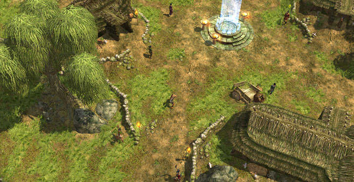 Titan Quest landscape screenshot - Chinese countryside