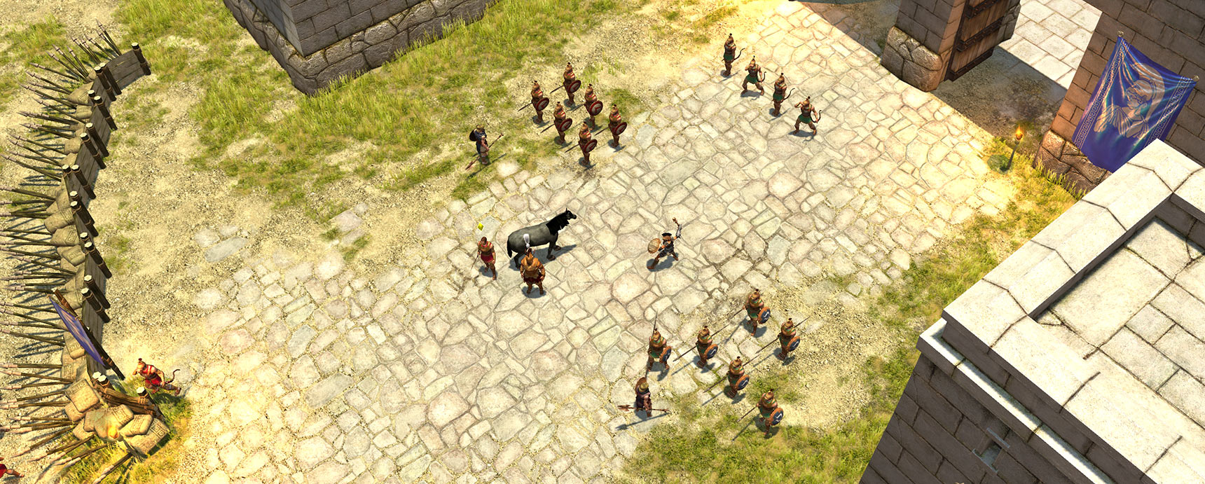 Titan Quest landscape screenshot - Athens gate