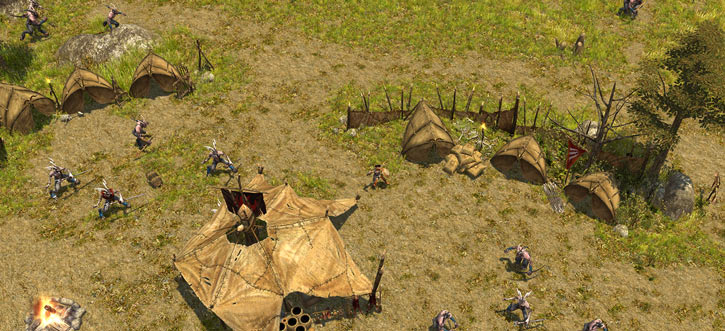 Titan Quest landscape screenshot - Satyr camp