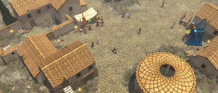 Titan Quest landscape screenshot - Cretan village