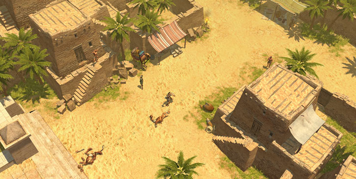 Titan Quest landscape screenshot - Egyptian slum