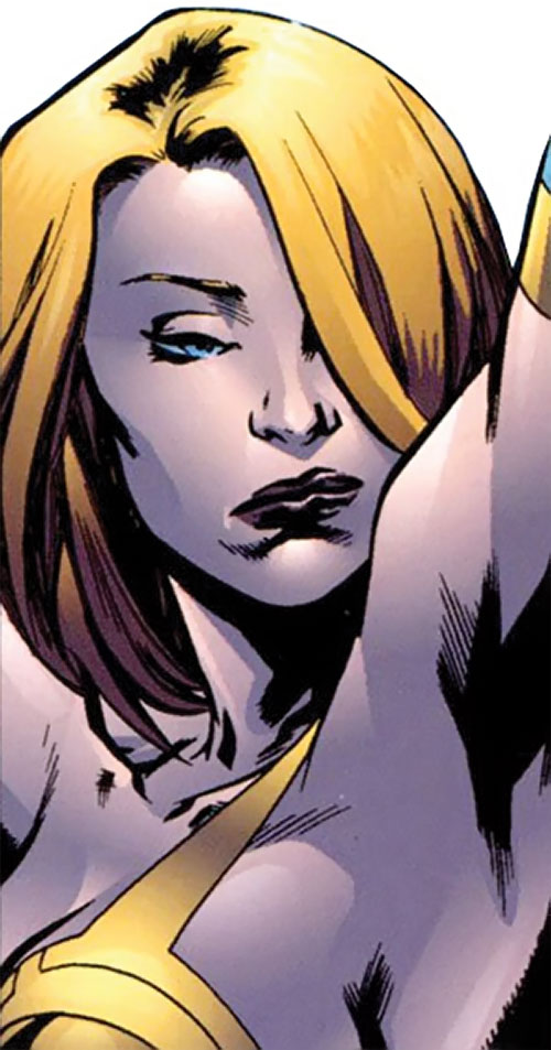 Synergy (Dynamo 5 enemy) (Image Comics) smug face closeup