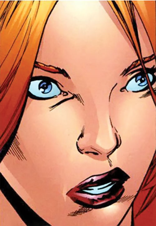 Synergy (Dynamo 5 enemy) (Image Comics) face closeup