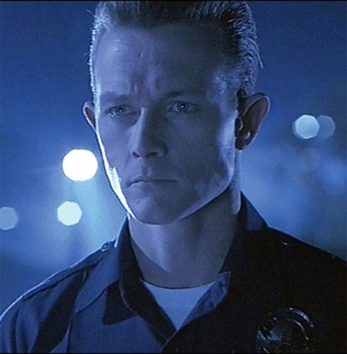 T-1000 Terminator (Robert Patrick) face closeup