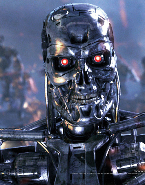 T-800 Terminator head closeup