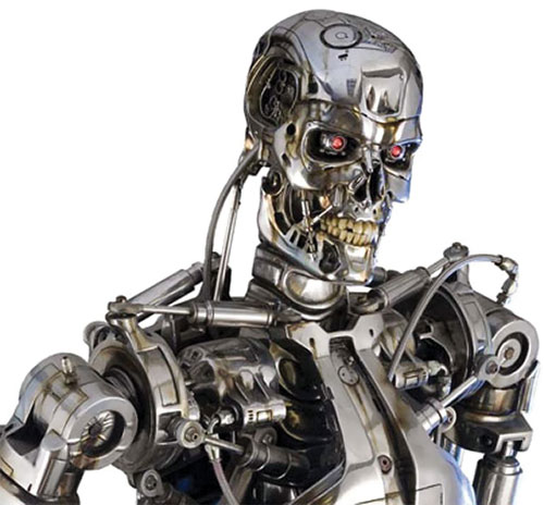 T-800 Terminator head and shoulders