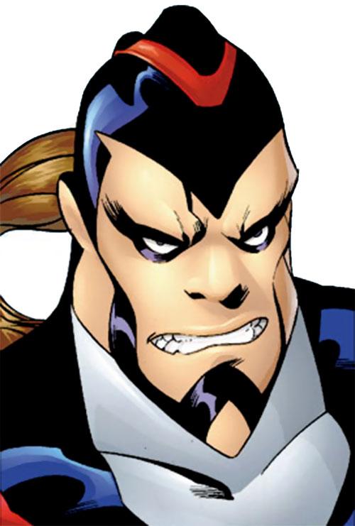 T-Bird of the Exiles (John Proudstar) (Marvel Comics) face closeup