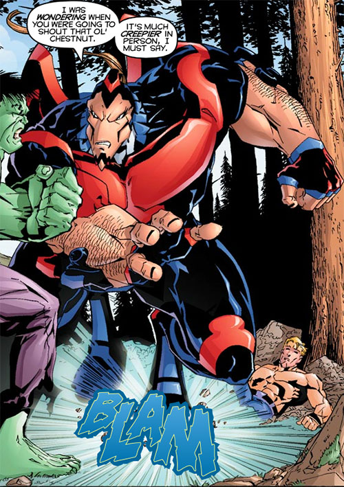T-Bird of the Exiles (John Proudstar) (Marvel Comics) vs. the Hulk