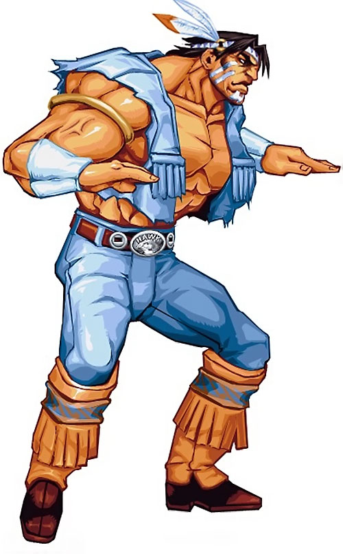 T-Hawk (Street Fighter video games) in a combat stance