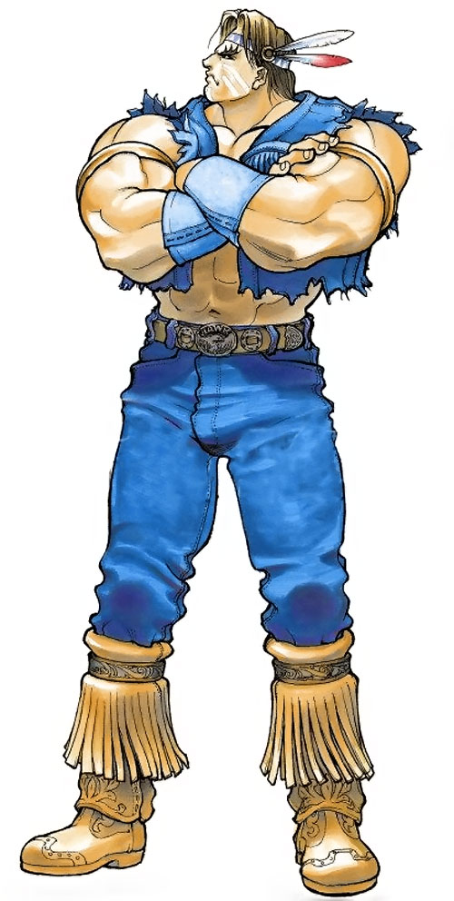 T-Hawk (Street Fighter video games) standing with arms crossed