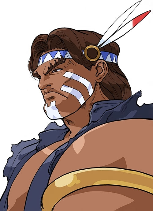 T-Hawk (Street Fighter video games) face closeup
