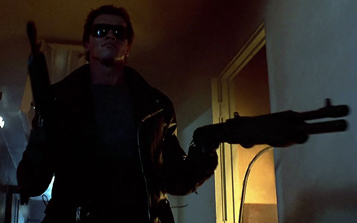 T-800 Terminator with paired shotgun and assault rifle