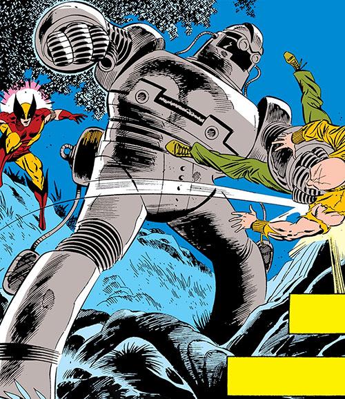 TESS-One robot (Wolverine / Captain America enemy) (Marvel Comics) vs. Nuklo