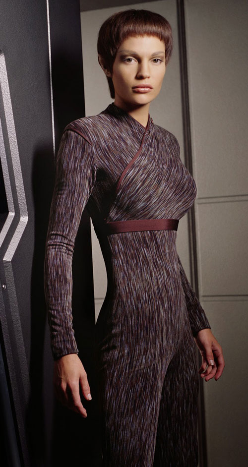 T'Pol (Jolene Blalock in Star Trek Enterprise) dark uniform body cast