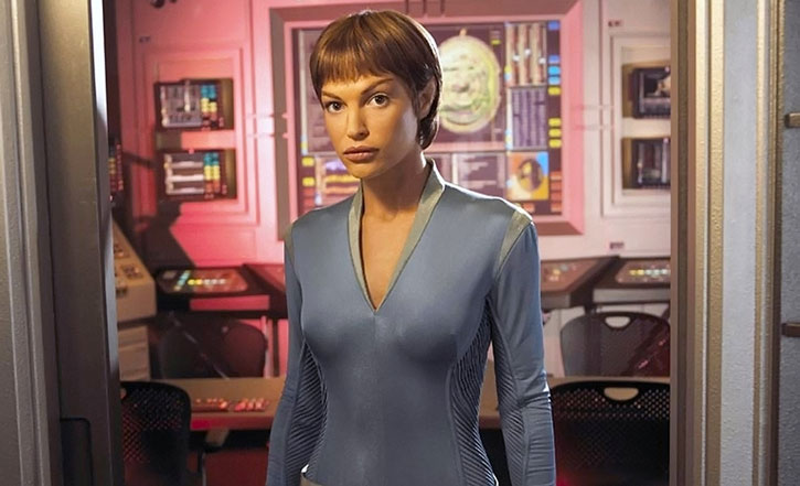 T'Pol (Jolene Blalock in Star Trek Enterprise) on the USS Enterprise