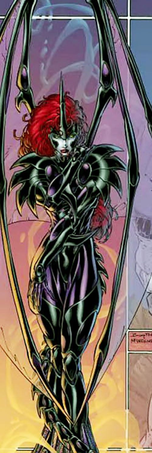 Taboo (Amanda Reed) (Wildstorm Comics) (Backlash ally) with vampire wings
