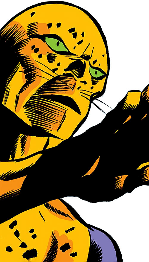 Tagak the Leopard Lord (Daredevil character) (Marvel Comics) face closeup