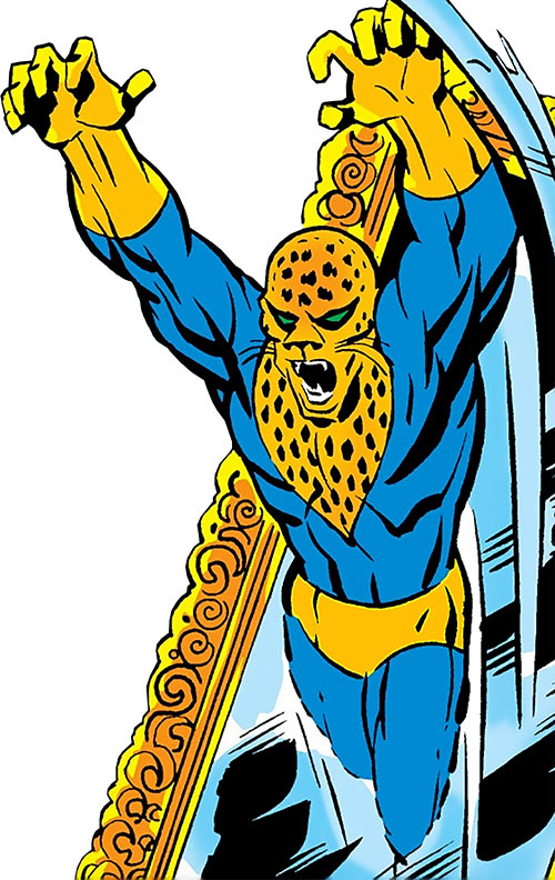 Tagak the Leopard Lord (Daredevil character) (Marvel Comics) appears in a mirror