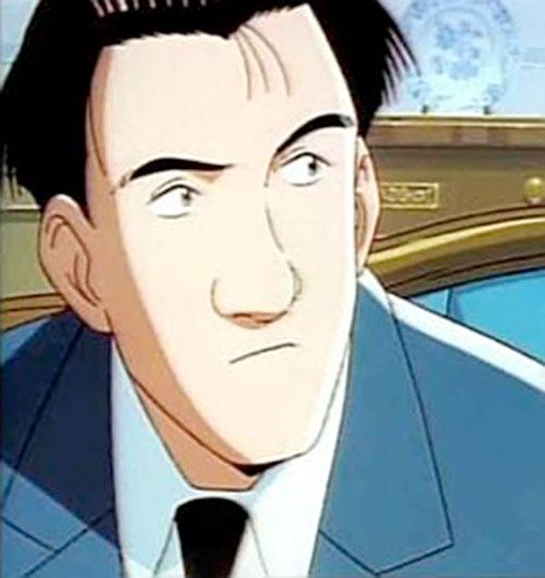 Taichi Hiraga Master Keaton face closeup