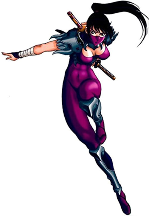 Taki (Soul Calibur) leaping