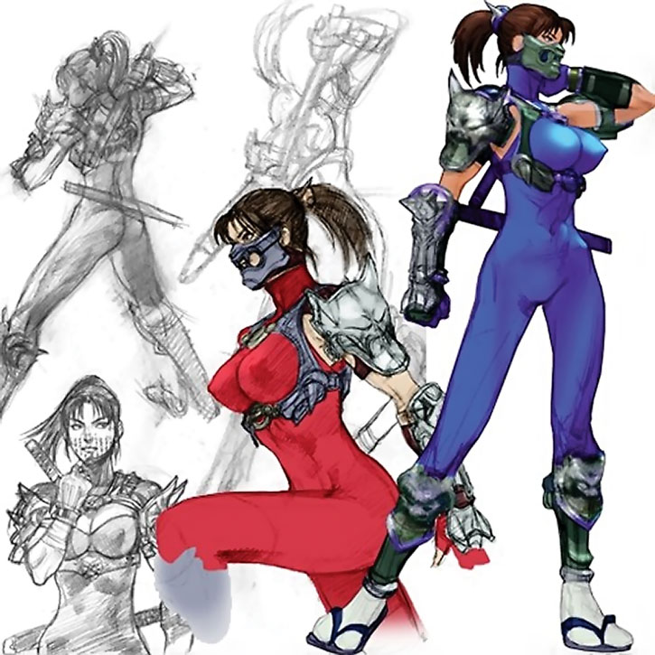 Taki character design model sheet