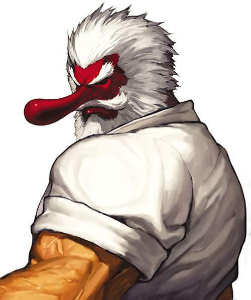Mister Karate (Takuma Sakazaki) (King of Fighters) with his big-nosed tengu mask