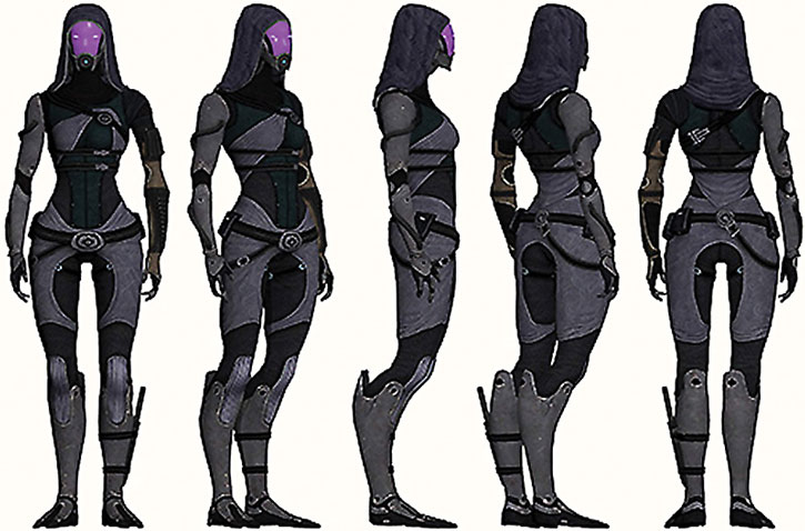 Tali nar Rayya model sheet rotation, main view