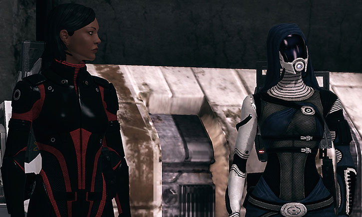 Tali nar Rayya and Commander Shepard