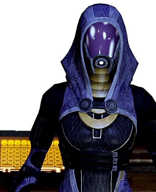 Tali'Zorah vas Normandy (Mass Effect) hi res next to a console