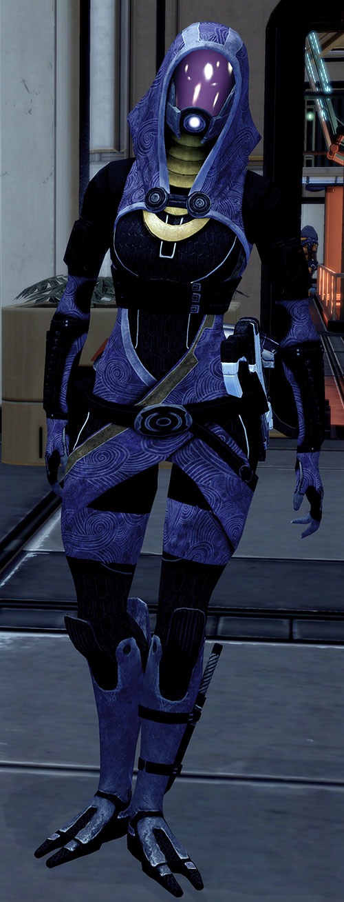 Tali'Zorah vas Normandy (Mass Effect) stretching her legs