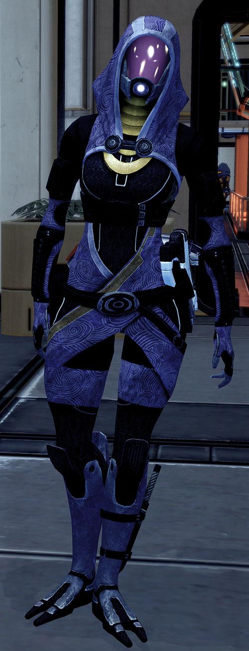 Tali'Zorah vas Normandy (Mass Effect) stretching her legs