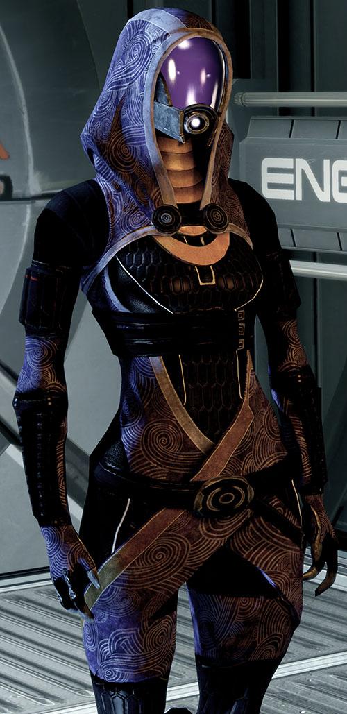 Tali'Zorah vas Normandy (Mass Effect) on the engineering deck