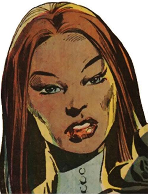 Talia al Ghul (DC Comics) (Batman character) face closeup