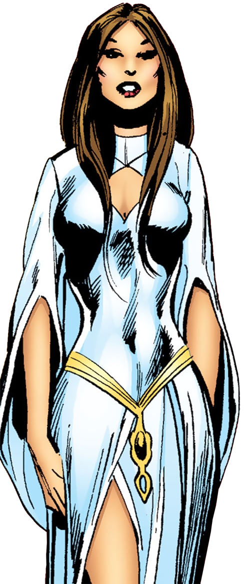 Talia al Ghul (DC Comics) (Batman character) in a white dress