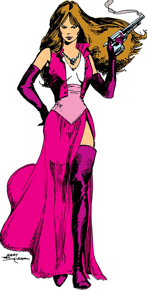 Talia al Ghul (DC Comics) (Batman character) in a pink dress
