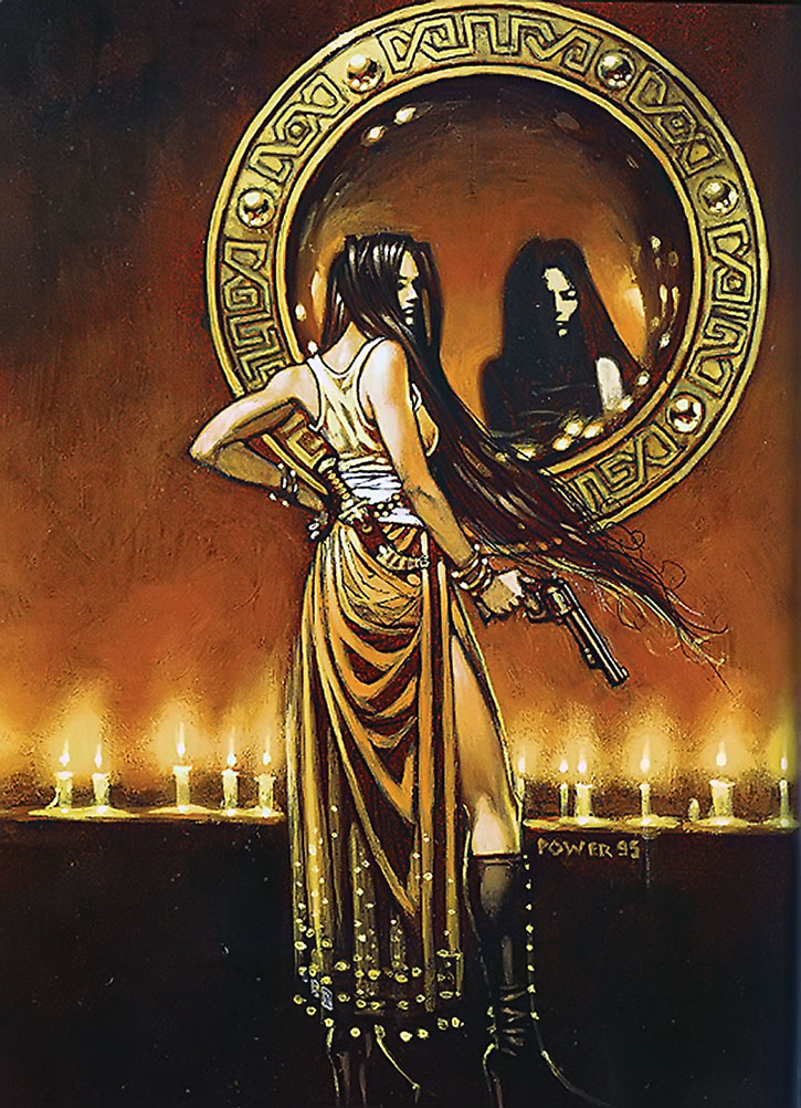 Talia al Ghul painting by Tim Power