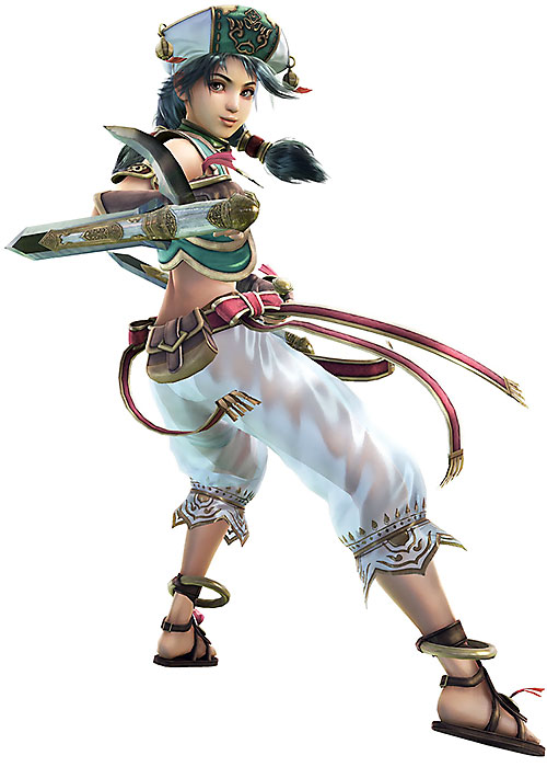 Talim (Soul Calibur) back view and bladed tonfa