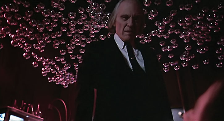 The Tall Man (Angus Scrimm) low-angle shot