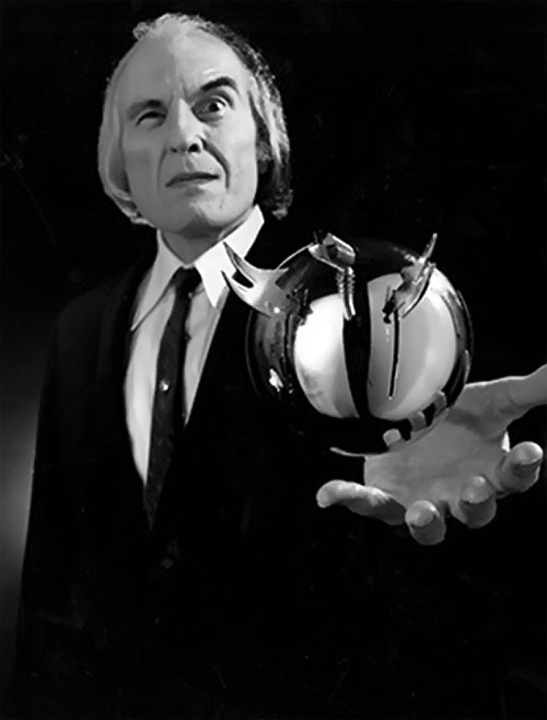 The Tall Man (Angus Scrimm in Phantasm movies) holding a killer ball