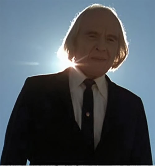 The Tall Man (Angus Scrimm in Phantasm movies) against the sun