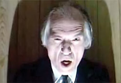 The Tall Man (Angus Scrimm in Phantasm movies) in harsh light