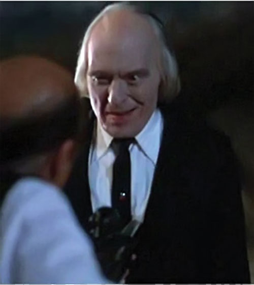 The Tall Man (Angus Scrimm in Phantasm movies) smirking