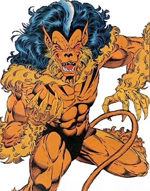 Talon (Guardians of the Galaxy) (Marvel Comics) in feral form