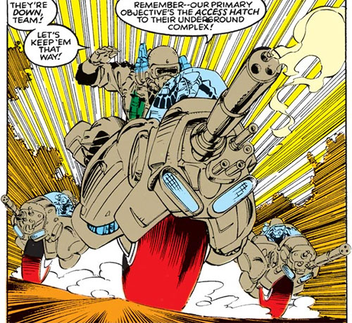 Genoshan transformer vehicles in assault bike mode (Marvel Comics)