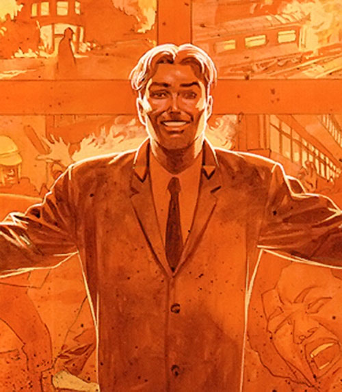 TAO from WildCATs and Sleeper (Wildstorm Comics) in orange lighting