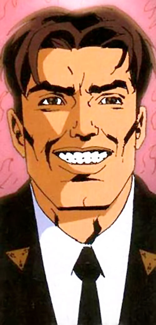 TAO from WildCATs and Sleeper (Wildstorm Comics) with a fake smile