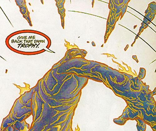 Tar Pit (Flash enemy) (DC Comics) throwing gobs of tar