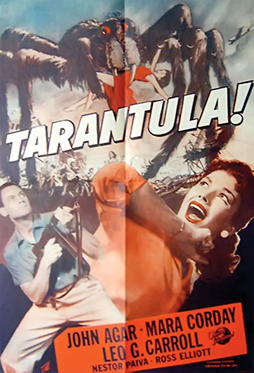 Tarantula 1955 movie poster - beige background