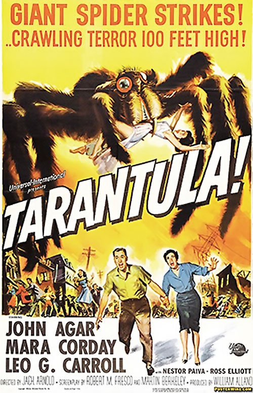 Tarantula 1955 movie poster - orange background
