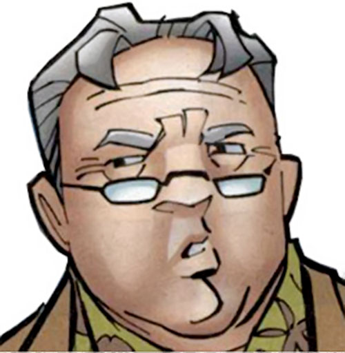 Tarantula (John Law) (DC Comics) as a retiree - face closeup